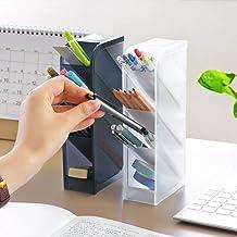 Kreatywny wielofunkcyjny organizer na biurko z 4 siatkami uchwyt na długopisy pudełko do przechowywania makijażu akcesoria...