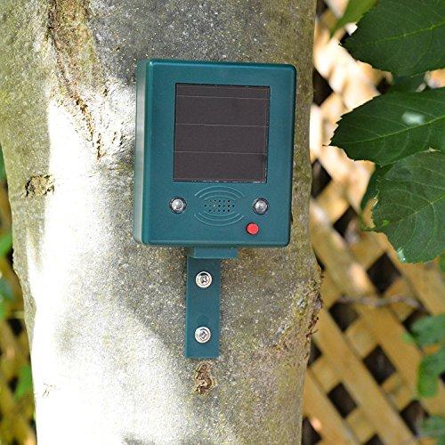 Preisvergleich Produktbild Solar-Vogelvertreiber mit Ultraschall & Blitzlicht