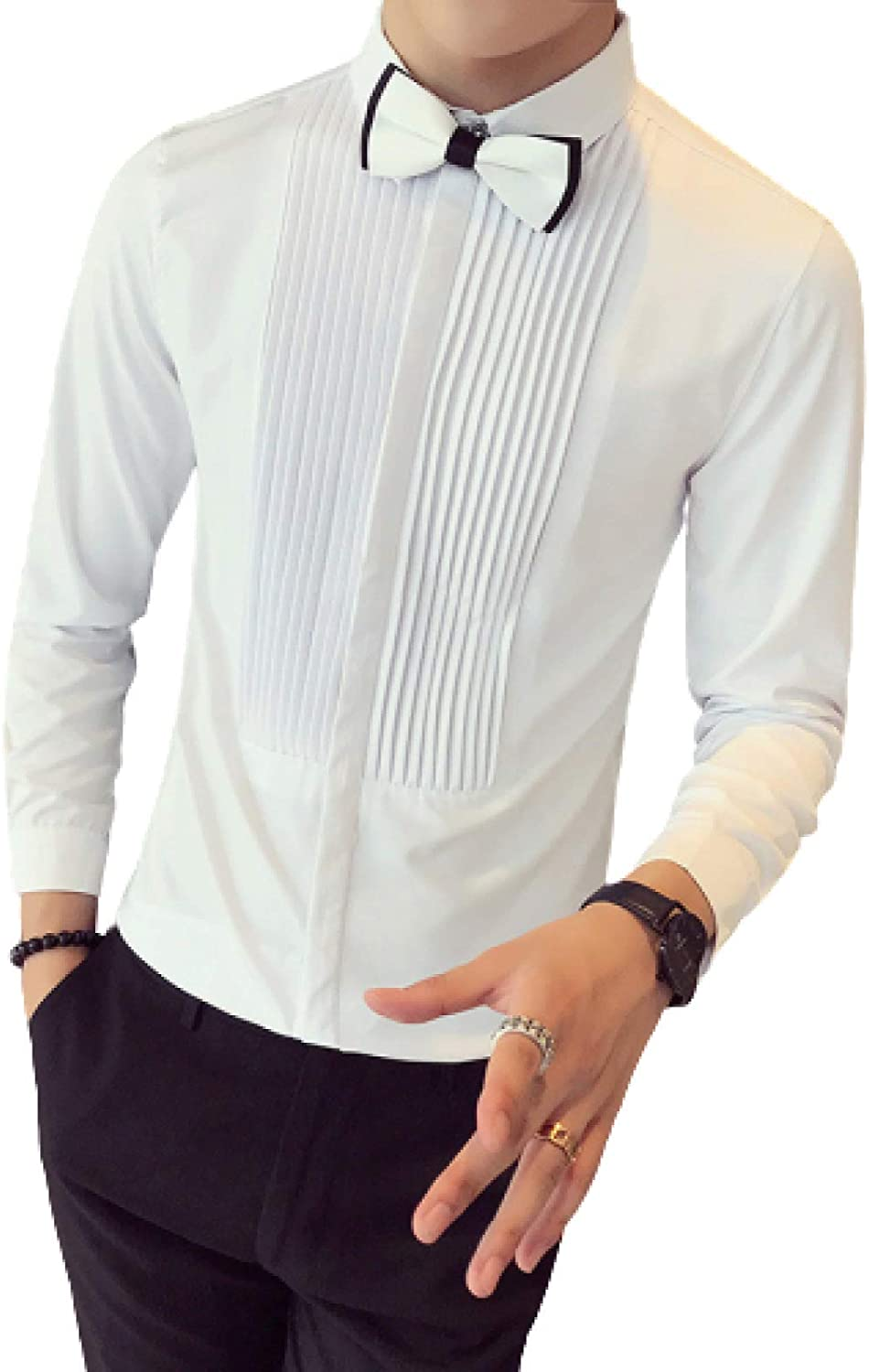unisex Recommendation Men's Long-Sleeved Shirts Autumn and Winter W Color Solid