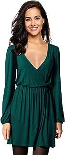 Best v neck long sleeve dress Reviews