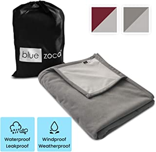 Waterproof Blanket 100% LeakProof Top Luxury Cover- Passion, People, Pets; Outdoor Windproof Fleece Throw for Cold Weather Sports, Stadium, Bleacher; Dog/Cat Pee-Proof; Protects top of Bed/Couch 65x80