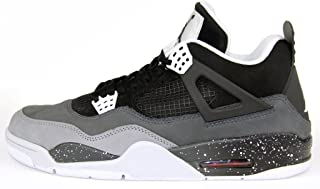 Mens Air Jordan 4 Retro Fear Pack Black/Cool Grey Suede Basketball Shoes Size 9.5