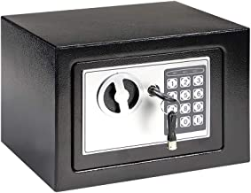 CabinetStore Safe Lock Box Fireproof Digital Metal Cabinet Electrical Keypad and Keys for Home, Business, Hotel (Black)