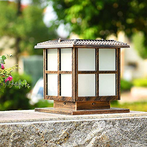 Outdoor Street Light, Wall Lamp Post Headlight Solar Garden Community Square Wall Pillar Lamp Outdoor Waterproof Villa Garden Gate Light Door Column Lamp Lantern Light