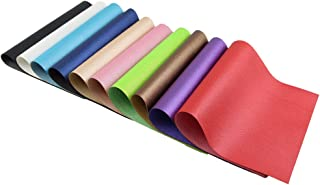 Craft Leather Fabric Pebbled Faux Leather Sheets PU Vinyl Leather for Bows Headband Earrings A4 Size, 10 Colors