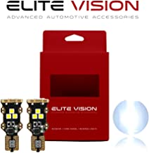 Elite Vision Titanium Series Interior LED Non-Polarity 450LM Bright for Dome Map Courtesy Door License Plate Cargo Lights (Pack of 2) (921/912/T15, White)