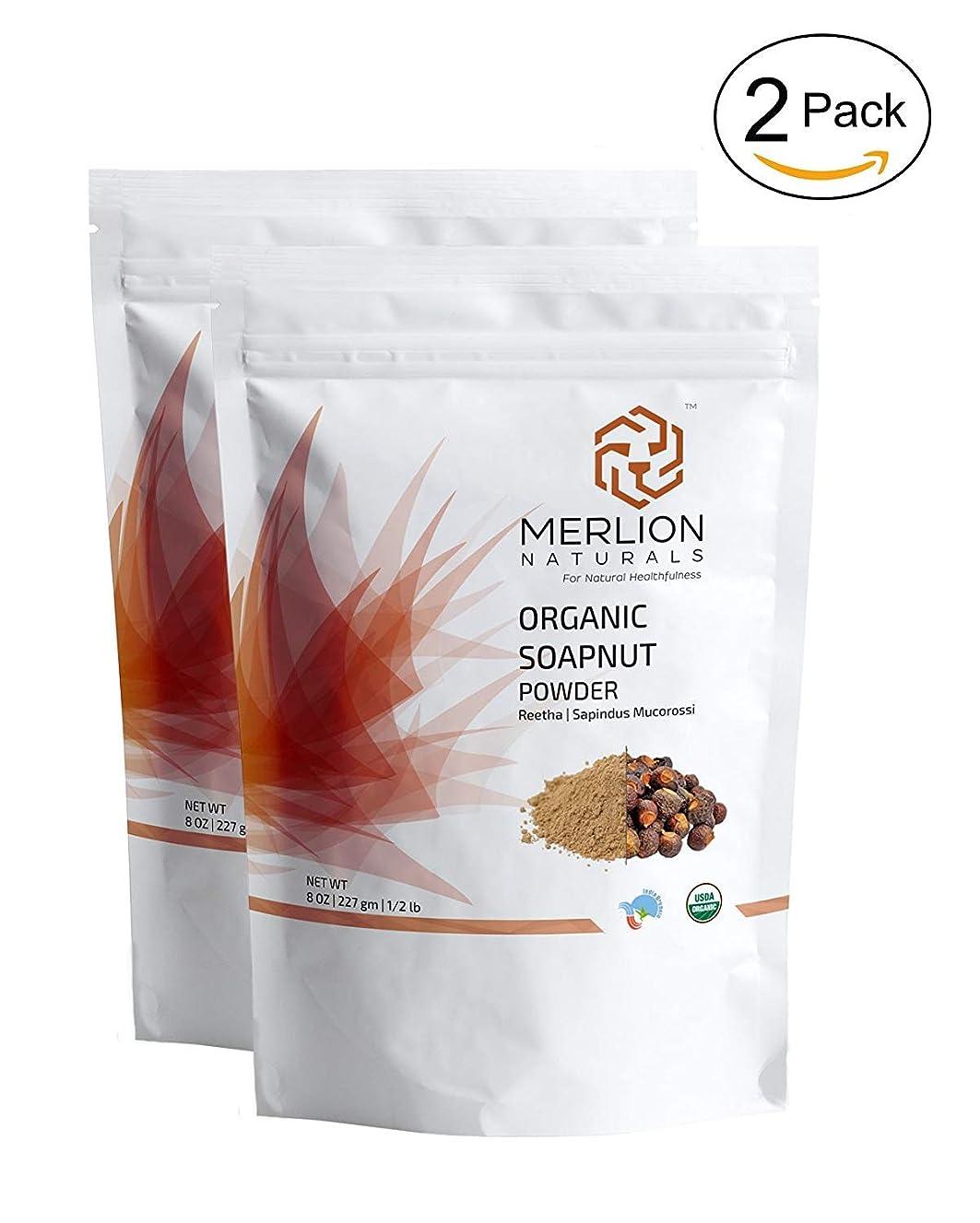 鎮痛剤知っているに立ち寄る二度有機医療有機Soapnutパウダーreethaのaritha粉末(227グラム) - 2のパック