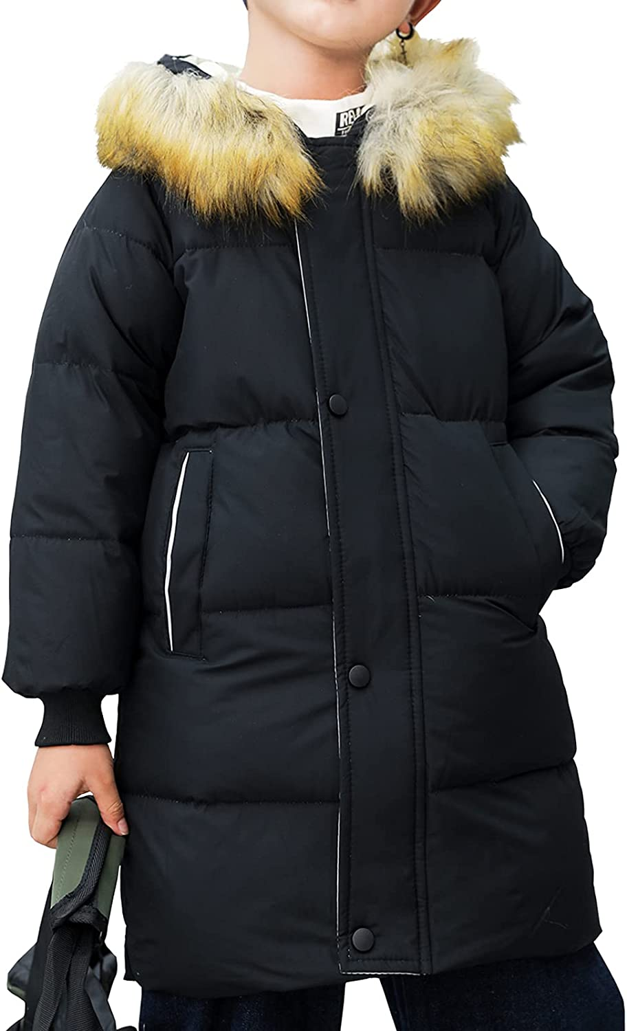 Children Down Coat Girls Quilted 67% OFF of fixed NEW price Puffer Fur Kid Collar with Long