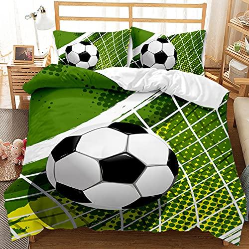 Ropa De Cama 3D Textiles para El Hogar Fundas Nórdicas con Patrón De Fútbol Son Duraderas Y Fáciles De Limpiar Adecuadas para Todas Las Estaciones 180x220cm