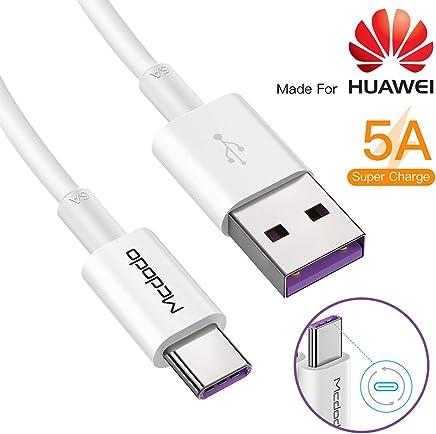 5A Cable dash usb c carga rapida,Cable USB C Carga Rapida 5A para Huawei,USB Tipo C a A,Carga rápida para Huawei Mate 9, MacBook, iPad Pro 2018, Galaxy S10/S9/S8 y más, 1 m