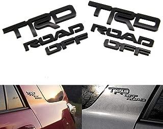 Cardiytools 3D Letters Black TRD ROAD OFF Door Fender Tailgate Emblem Sticker Decal Badge Nameplate for 2010-2019 4Runner