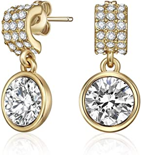 Mestige MSER3314 Women's Gold Plated Crystals Drop and Dangle Earrings