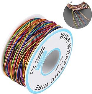 Rollo de Cable de Colores,Cable de Embalaje de Prueba de Aislamiento Cable de Cobre Estañado 30AWG P/N B-30-1000,para Placa Base Portátil Prueba Electrónica