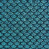 Fabulous Fabrics Folienjersey türkisblau, Karneval,