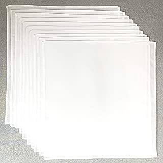 ハンカチ 白 無地 お絵かきハンカチ20cm30枚組(10枚×3セット) キャンブリック 綿100% 学童サイズ お受験 入園入学準備 染色 刺繍 日本製