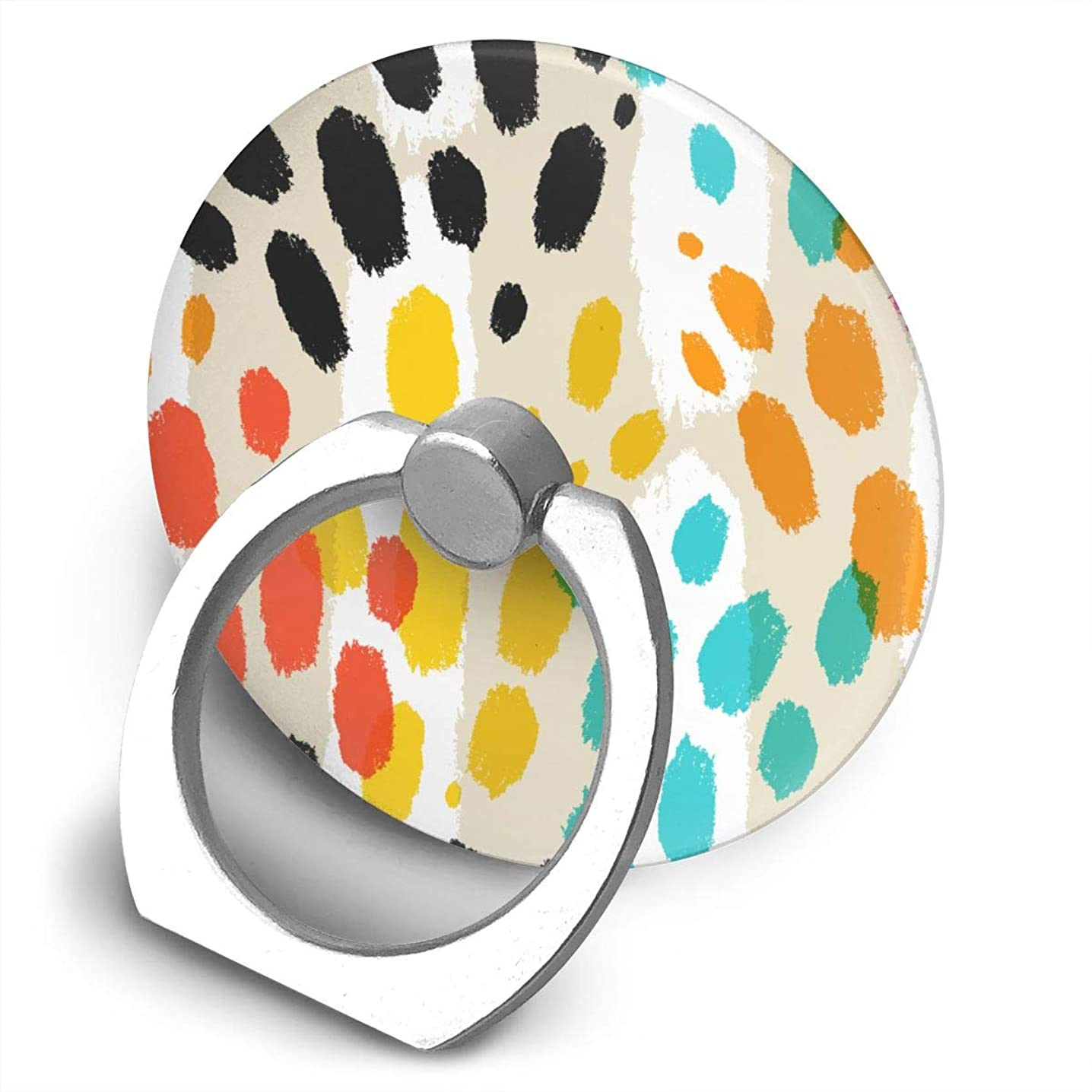 Watercolor Animal Print Phone Finger Ring Stand,Multi-Function 360°,Rotating Ring Bracket Compatible iPhone 5 6 7 8 X Plus Samsung Galaxy Ipad