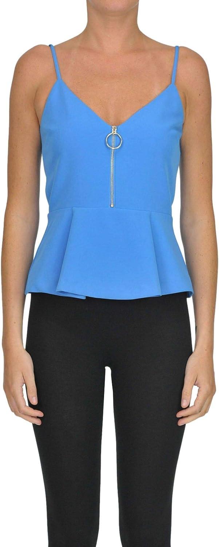 Space Style Concept Women's MCGLTPT000006000I Light bluee Cotton Tank Top