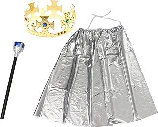 TOYMYTOY コスプレ衣装 コスプレ 面白いロールプレイ玩具 ハロウィン コスチュームセット コスプレパフォーマンス小道具 (シルバー)