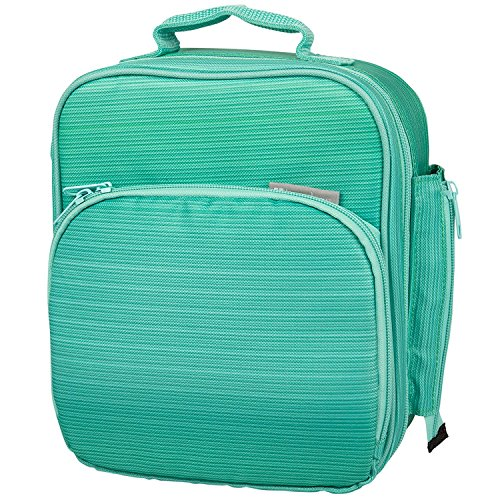 Bentology Lunch Box for Kids - Girls and Boys Insulated Lunchbox Bag Tote - Fits Bento Boxes - Turquoise