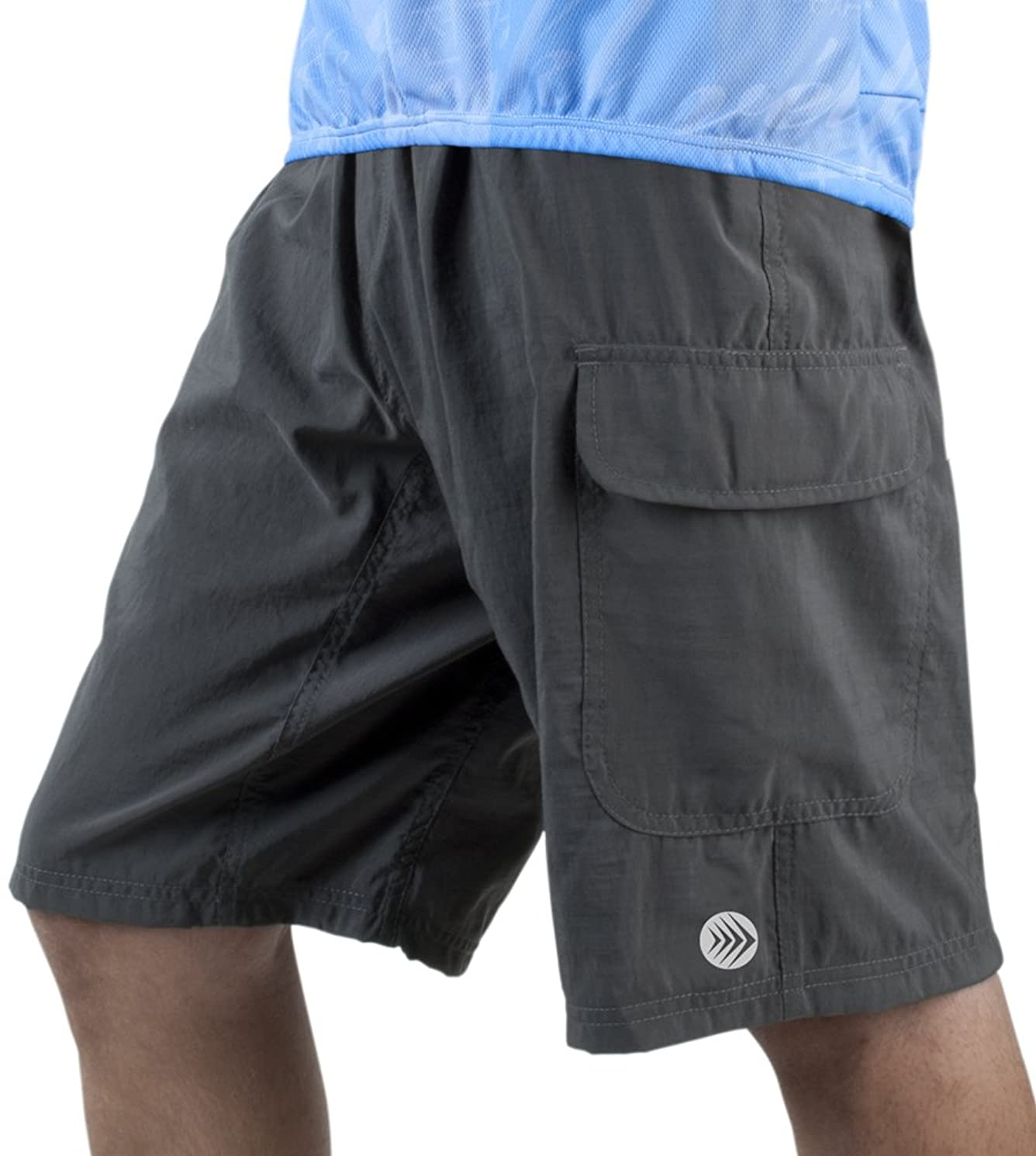 Men's ATD Cargo Cycling Short - Baggy Padded Mountain Bike Shorts evdk29240787505