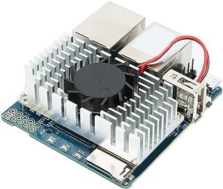 開発モジュール、電源モジュールLEDEデュアルギガビットネットワークポート1GB RK3328 CPUクアッドコア開発ボード、R2S用ファンハウジング付き