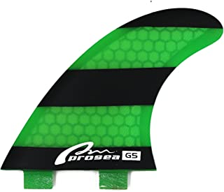 Prosea FGH18 Surfboard fins FCS Base Surfing thrusters Made of Fiberglass and Honeycomb with 1 Key and 6 Screws