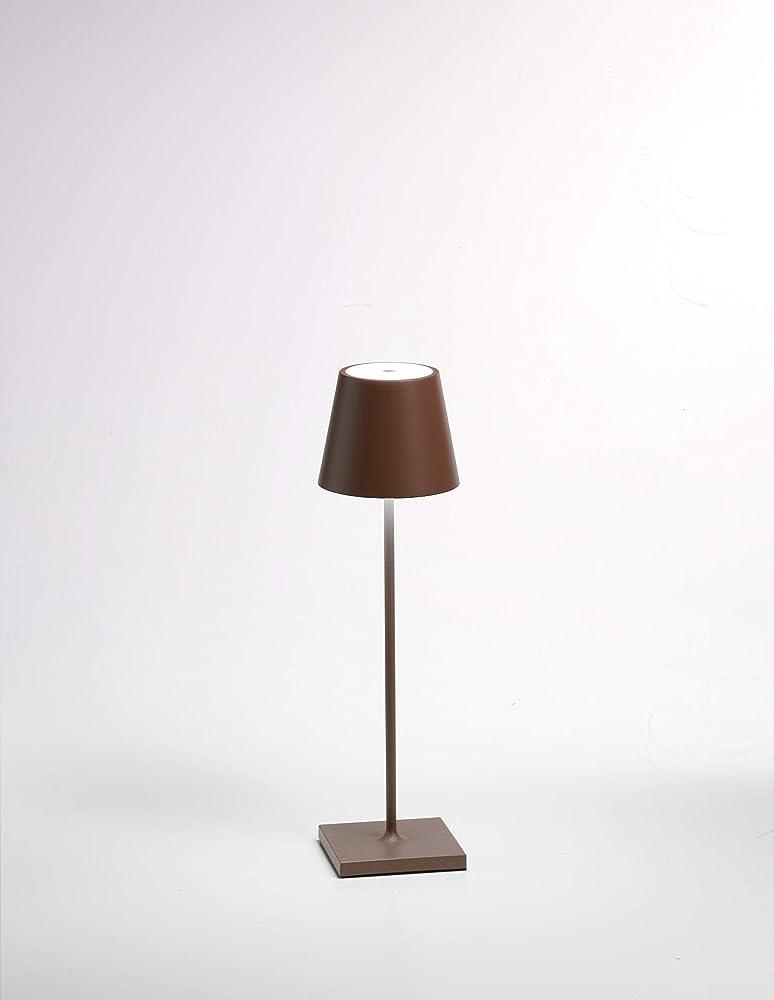 Zafferano poldina lampada da tavolo led 2w ricaricabile LD0280R3
