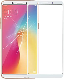 Simple Modern Life Replaceable Front Screen Outer Glass Lens for OPPO A73 (Black) (Color : White)