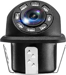 GARNECK Câmera de ré HD retrovisora de visão noturna com 8 luzes LED e cabo de extensão de 6 m, câmera universal de carro ...