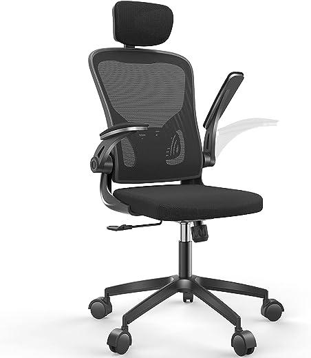 Naspaluro Bürostuhl, Ergonomischer Drehstuhl mit Armlehne, Kopfstütze und Lordosenstütze, Chefsessel Verstellbarer Schreibtischstuhl mit…