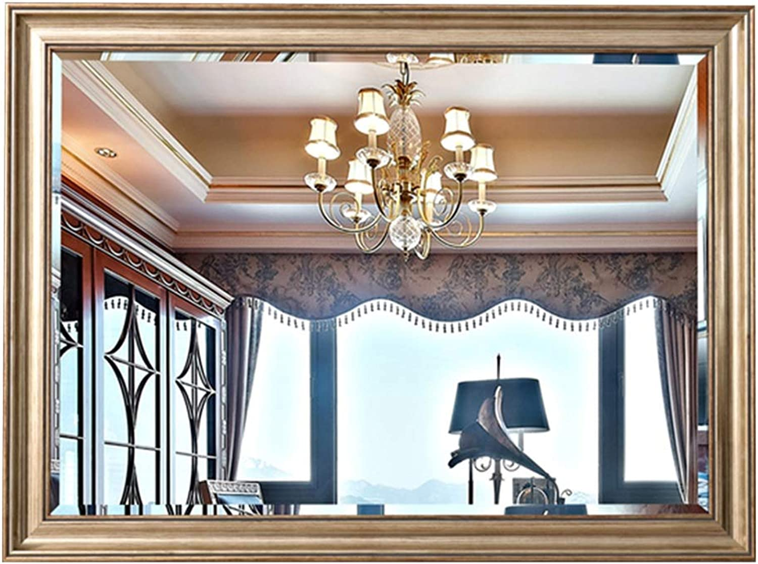 Wall-Mounted Mirrors Mirror Makeup Mirror Beauty Mirror Bathroom Full Body Mirrorvanity Mirror Living Room Wall Mirror Bedroom Mirror, Thickness 5mm (color   Clear, Size   50  70cm)