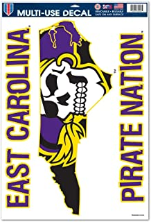 promo code 01cb7 c1eb2 WinCraft East Carolina Pirates Official NCAA 11 inch x 17 inch Car Window  Cling Decal by