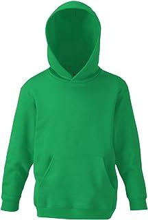 FOTL - Sudadera con capucha para niños, color verde Kelly, talla 9-11