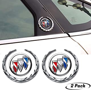 3D Metal Car Emblem Badge Sticker-2Pcs Car Chrome Emblem for Buick