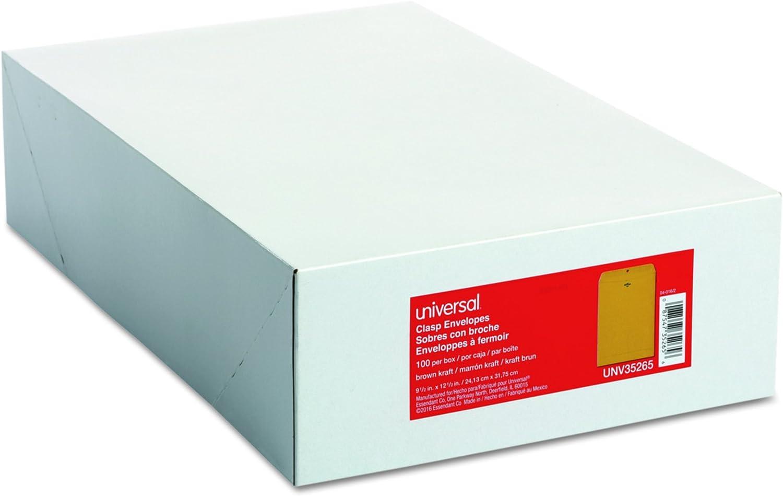 Universal 35265 Kraft Clasp Envelope Center 2 Al sold out. 9 Popular 1 x 28lb Seam