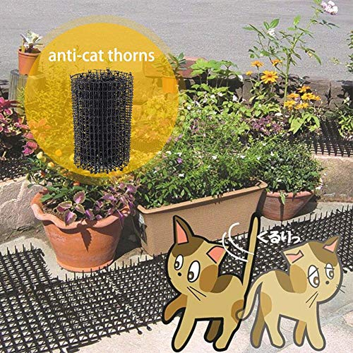 aheadad Tier-Barriere 200cm X 30cm Clematis Netting Mesh Humane Anti Cat Dog Animal Mat Spikes Repellent Deterrent Ideal for Plant, PetProtection and Climbing Plant Support Net