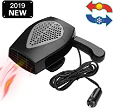 12V Portable Car Heater & Fan Cooller Defrost Defogger Space Automobile 3-Outlet Plug Adjustable Thermostat Fast Cooling & Heating
