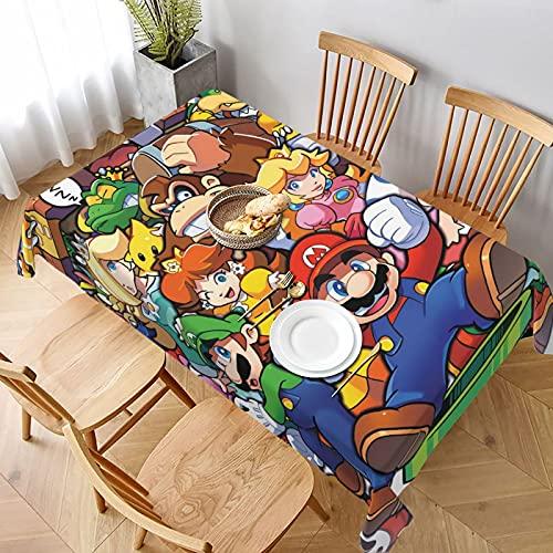 The Legend of Zelda Superhero Super Mario Smash Bros - Mantel impermeable resistente a las arrugas, lavable, tela de poliéster, peso pesado para decoraciones de fiesta, 152 x 228 cm