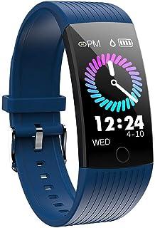 YLJYJ Pulsera Actividad Inteligente, Reloj Pulsómetro Hombre Mujer Medidor Presión Arterial Reloj de Actividad Sueño GPS Impermeable IP67 Reloj Podómetro Cuantas Calorías para Android y iOS