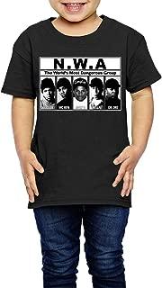 UrsulaA Kid's NWA Cute T Shirt for Girls/Boys Tees Black
