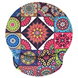 Nakapa Non Slip Wrist Rest Mouse Pad for Office, Computer, Laptop Memory Foam Wrist Support Mouse Pad 9in X10in Non Slip Wrist Rest Mousepad Mandala Flower-Foam