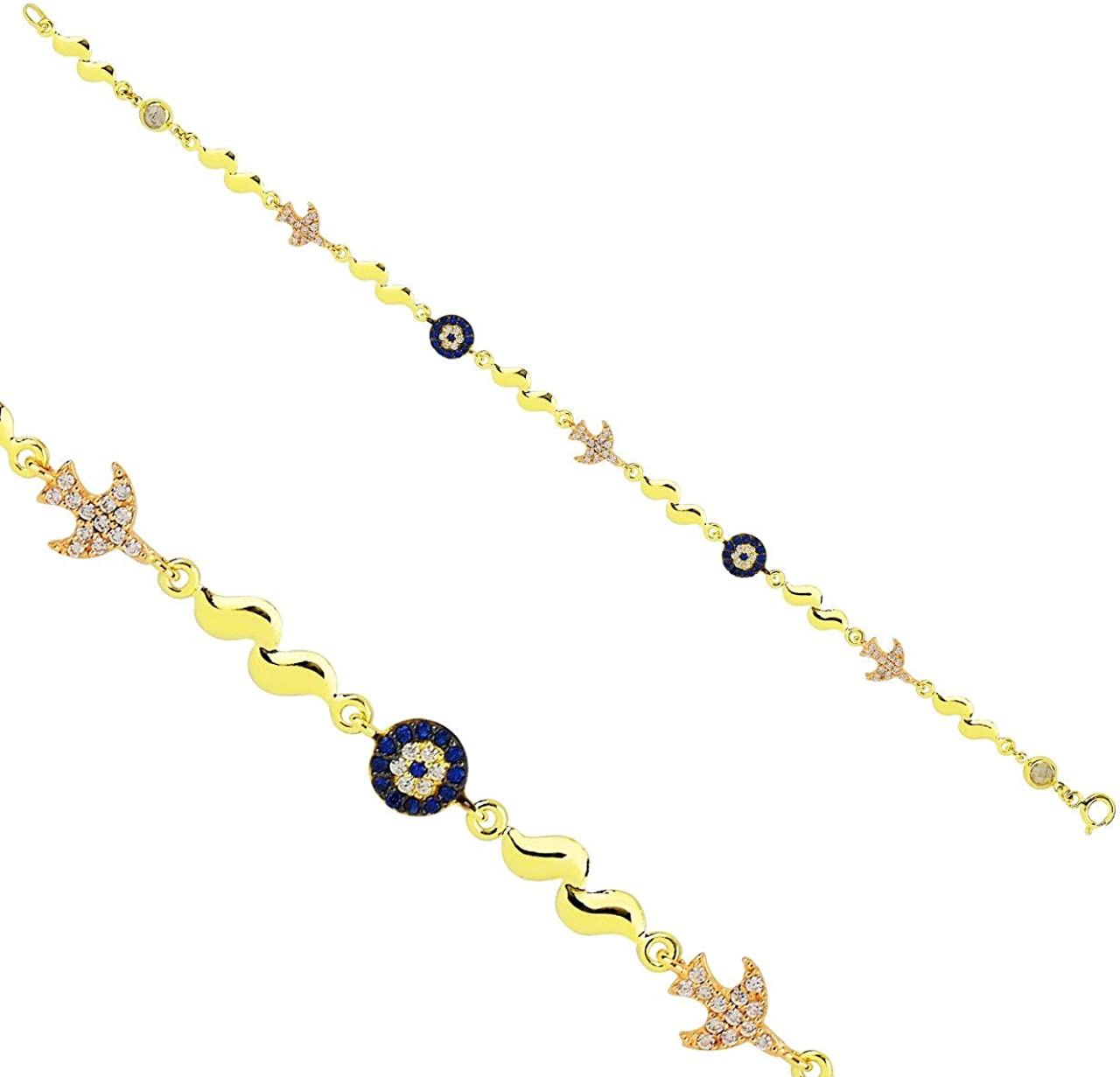 Anelise Gemstone Pendant 14k Solid Ranking Weekly update TOP17 Yellow 3.25 Gold gr Bracelet