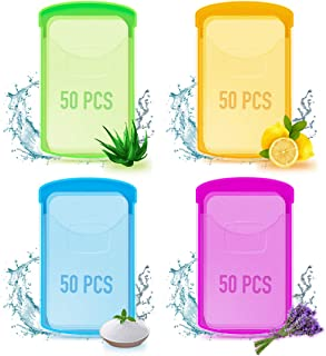 200PCS Mini Portable Travel Soap Paper Sheets, Disposable Hand Washing Soap Sheet, Handy and Kids Friendly, Great for Outdoor Travel Camping Hiking Cleaning Face and Hand