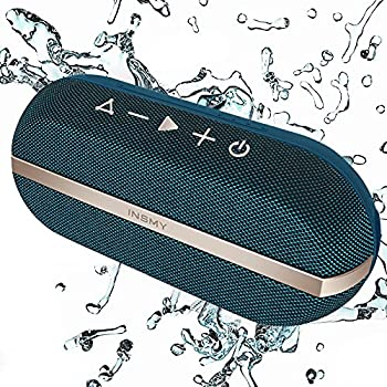 INSMY Portable Bluetooth Speakers 20W Wireless Speaker Loud Stereo Sound Rich Bass IPX7 Waterproof Floating Stereo Pairing 24 Hours Bluetooth 5.0 Built-in Mic for Outdoors Camping  Blue