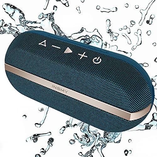 INSMY Portable Bluetooth Speakers, 20W Wireless Speaker Loud Stereo Sound Rich Bass, IPX7 Waterproof Floating Stereo Pairing 24 Hours Bluetooth 5.0...
