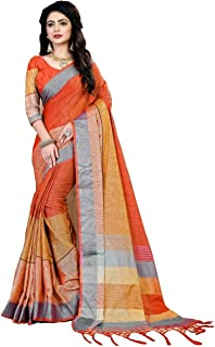 3b433b63ec5d4c Linen Women's Sarees: Buy Linen Women's Sarees online at best prices ...