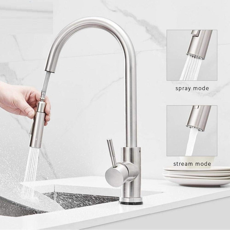 Küchen-Touch-Control-Wasserhahn Frei drehbar Touch-Wasserhahn-Sensor Wassermischer Pull-Down-Küchenmischer Küchenarmaturen aus Edelstahl