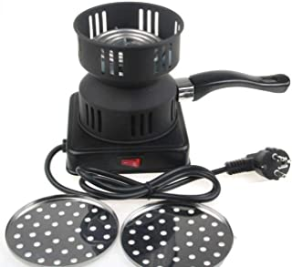 Elviray Quemador de carbón eléctrico de Metal de 650 vatios Que Incluye Bandeja extraíble + Pinzas