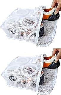 Rubik Sneaker Dryer & Wash Bag With Strap for Shoes Washing, Mesh Laundry Bag, Mesh Shoe Washing Bag with Zipper for Men &...
