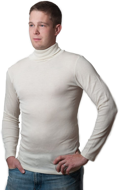 Hocosa Organic Merino Wool-Silk Long-Underwear Shirt, Long-Sleeves, Turtleneck